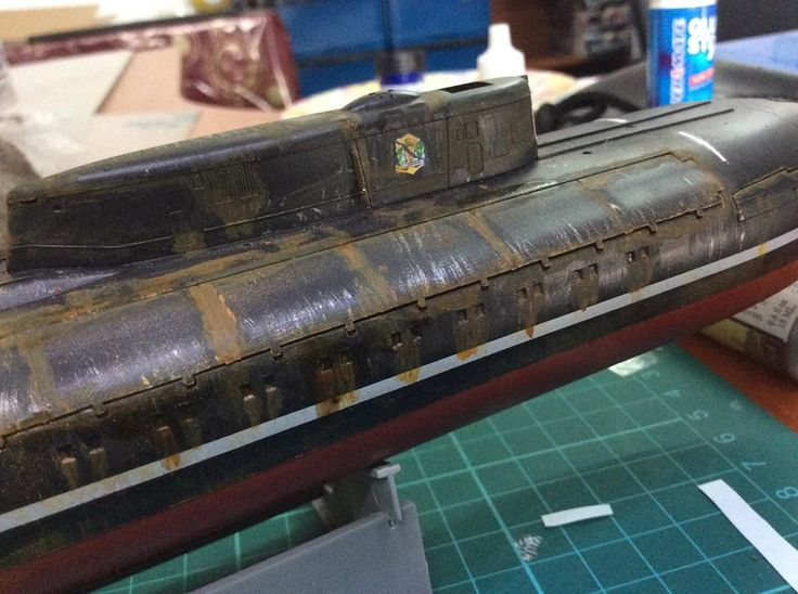 1/350 KURSK RUSSIAN SUBMARINE - WEATHERING