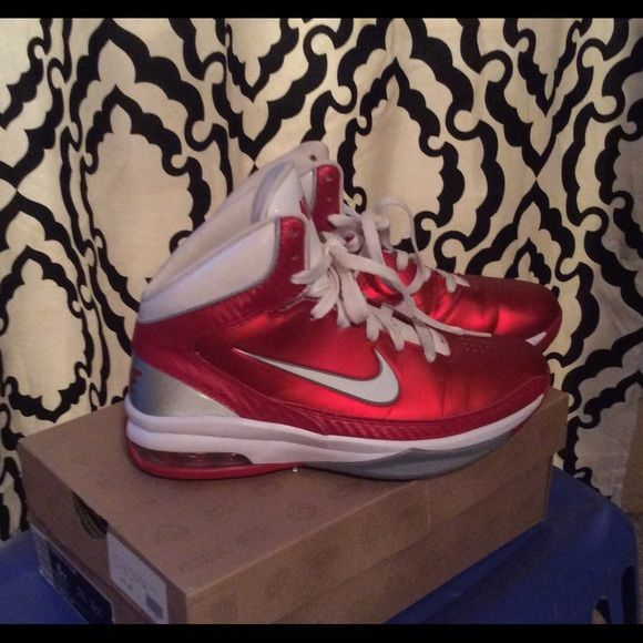 Women's Red Nike Basketball Shoes Red Nike Basketball Shoes worn a handful of times still in perfect condition Nike Shoes Athletic Shoes