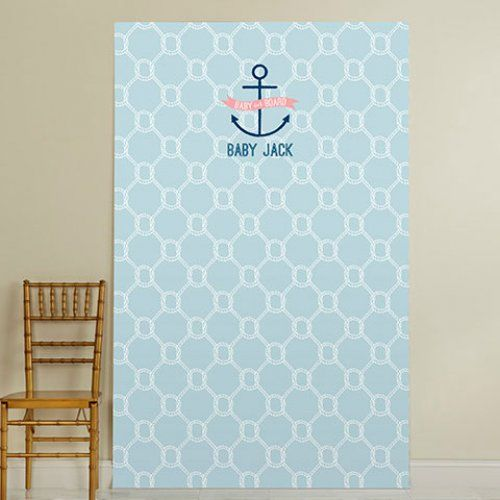 Personalized Baby Shower Photo Backdrop by Beau-coup