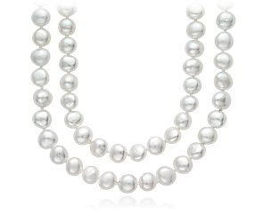 "Blue Nile Baroque Freshwater Cultured Pearl Necklace - 54"" Long"