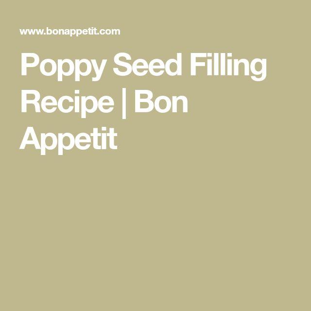 Poppy Seed Filling Recipe | Bon Appetit