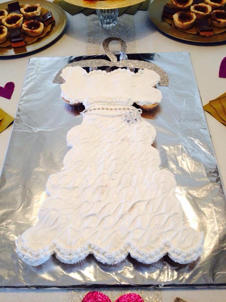 Bridal Shower Cupcake Cake Cake Designs Pinterest