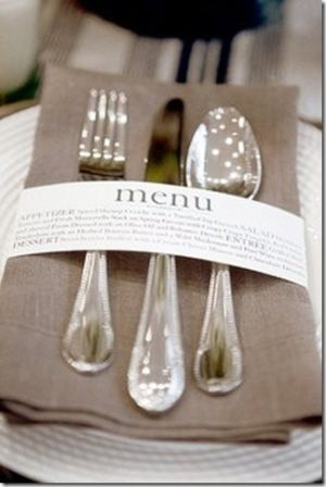 brilliant way to let your guests know what's for dinner!