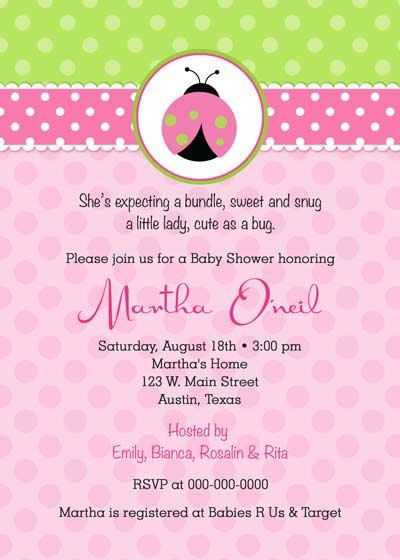 Baby Shower Invitation  Lady Bug for girl  DIY by BellePrintables