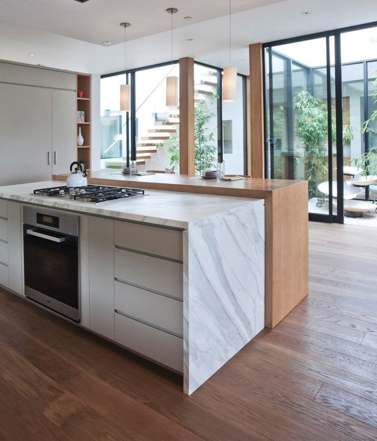 Mid century modern baseboard kitchen contemporary with
