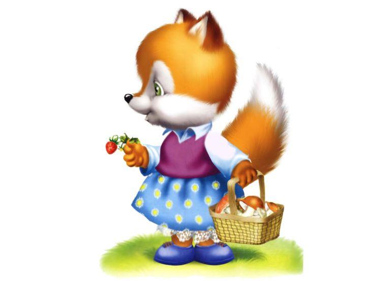 Окошко для, красочные картинка лиса для детей