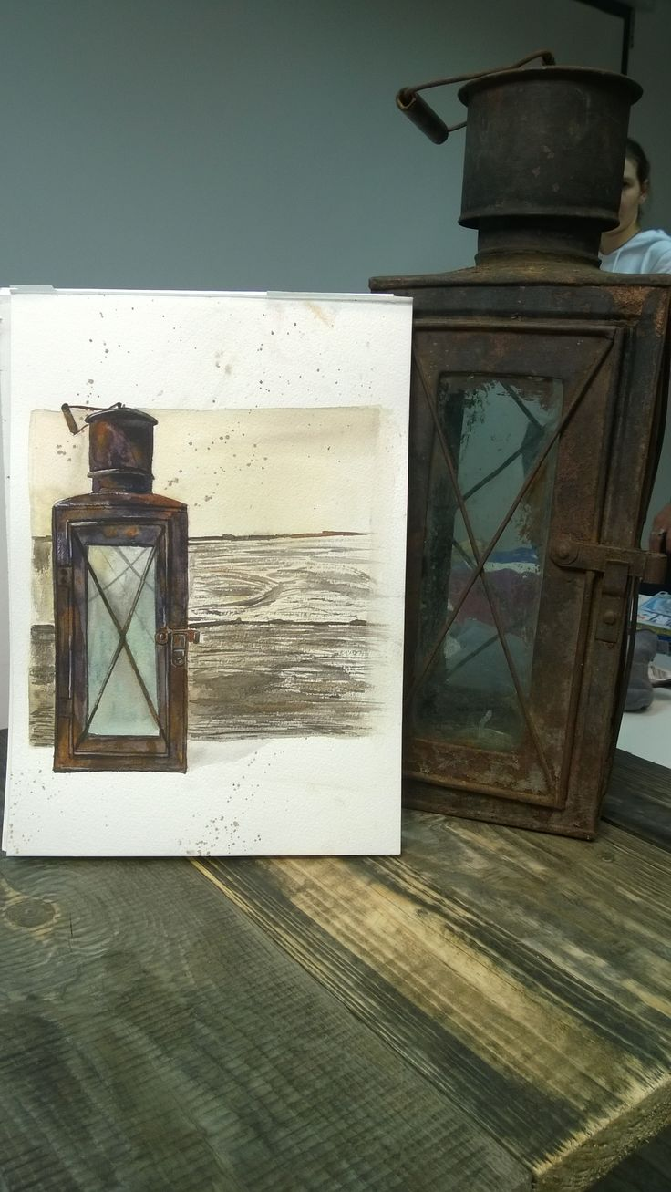 Sketch. Old Lamp.