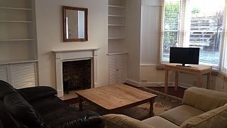 $1551 Spacious 1 Bedroom Garden Flat. 1 Brm with king bed + sofa lounge. 2 good reviews June & July 17. 1 Min walk to Fulham Broadway Tube Stn. 17 min on tube to Westminster. Free Wifi Sleeps 4