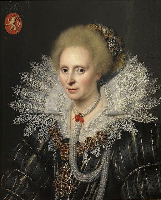 Michiel Janszoon van Mierevelt - Portrait of a Lady of the Van Beijeren van Schagen Family