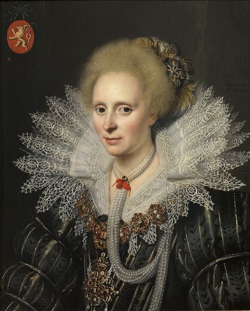 Michiel Janszoon van Mierevelt - Portrait of a Lady of the Van Beijeren van Schagen Family