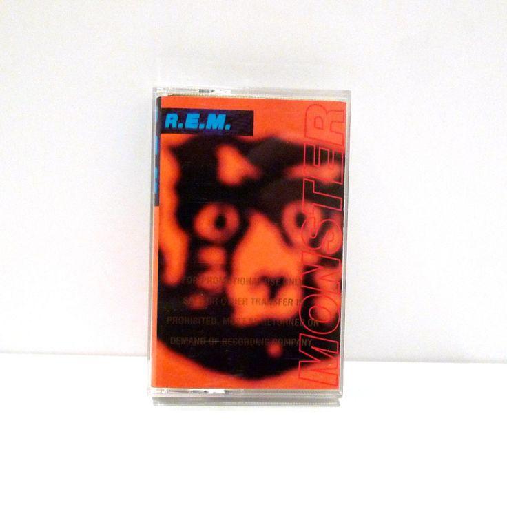 REM Monster Promo Vintage Cassette Tape Michael Stipe Bill Berry Peter Buck Mike Mills 1994 Star 69 Crush With Eyeliner Free US Ship R.E.M.