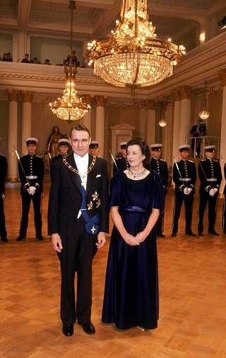 Presidentti Mauno ja Tellervo Koivisto itsenäisyyspäivänä 1984.
