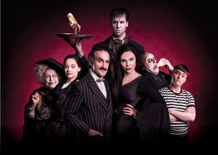 UK Premiere of The Addams Family, a musical comedy starring Samantha Womack, Carrie Hope Fletcher, Cameron Blakely and Les Dennis. Touring Production