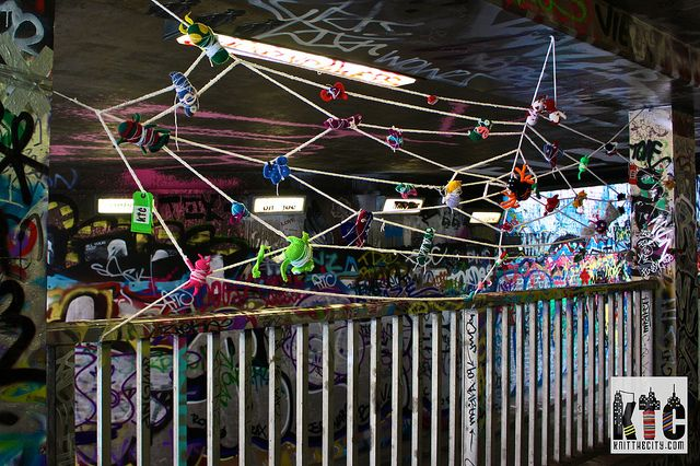 Web of Woe: our Web of Woe in all its glory by Knit the City, via Flickr