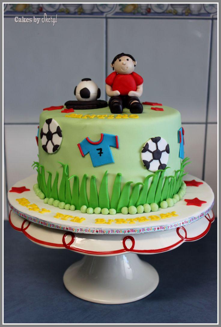 Soccer Themed Cake Cakes By Sheryl Pinterest Themed