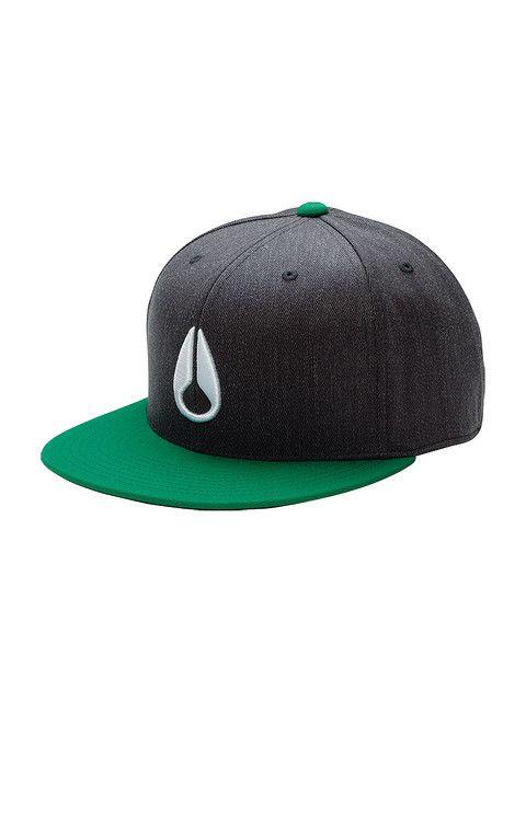 Icon 210 Hat - Green / Heather Gray   Nixon Neo Preen