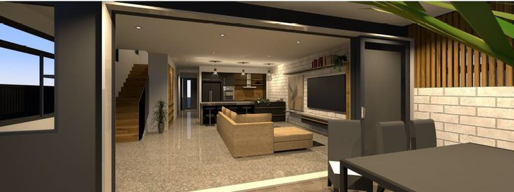 Indoor-outdoor living designed for a gorgeous townhouse development in Hamilton.