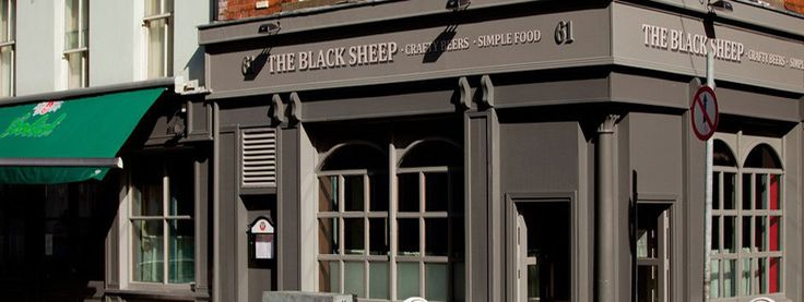 The Black Sheep: 61 Capel St., Dublin 1 - Styled on a modern British gastropub, the vibe is shabby chic, complete with mismatched tables and chairs, board games and a vaguely homey ambiance -- yet still bright, owing to its multi-windowed corner location. The Black Sheep also offers a menu of gastropub fare, though the focus here remains on the brews.