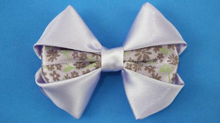 Passo a passo: Laço de fita de cetim/ DIY Satin ribbon *