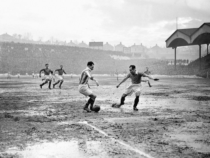 Charlton Athletic v Huddersfield Town, The Valley, 1947.