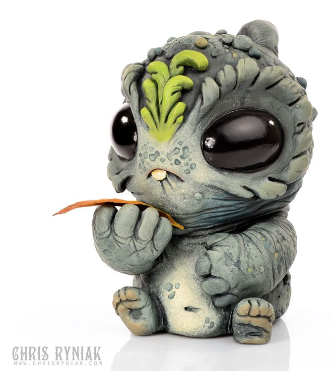 I don't know what it is and it probably grows up to be a scary omnivore of some kind- but its so cute....  Artist: Chris Ryniak