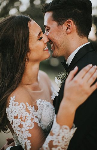 Great shot of the bride and groom. So romantic and happy! Wedding photography | bride and groom | Artistic Wedding at The Adamson House - Inspired By This