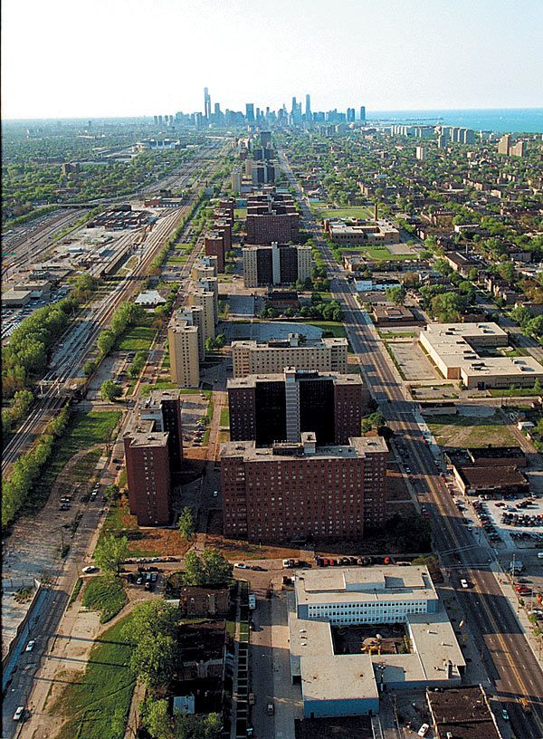 Chicago's south side, the infamous State St. corridor