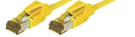 cable rj45 s/ftp jaune 1m categorie 7