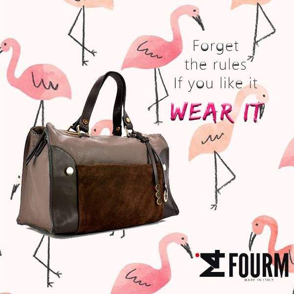 """Dimenticate le regole... Se vi piace INDOSSATELA."" Vi aspettiamo su www.ifourm.it #ifourm #bags #madeinitaly #borse #italy"