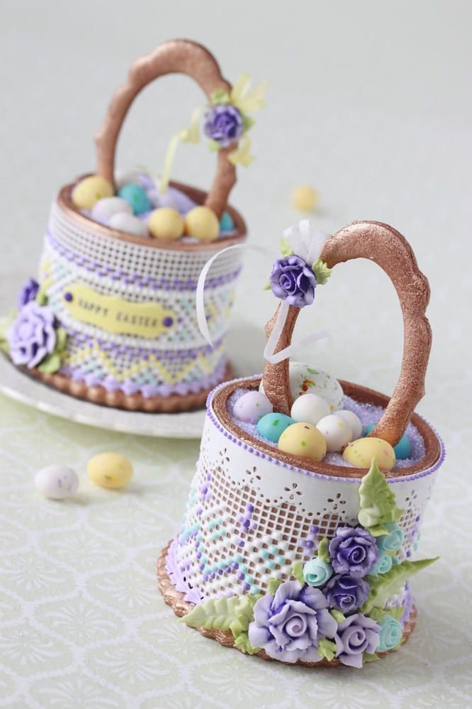 3-D Easter Baskets by Julia Usher