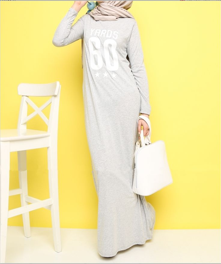 Factory New Long Sleeve Cotton Maxi Dress Soft Casual Clothing Indonesia Muslim Dress