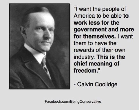 Calvin Coolidge and freedom