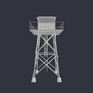 ab_tower.obj Army Base for Poser - Poser - ShareCG 40168 vertices - 37374…