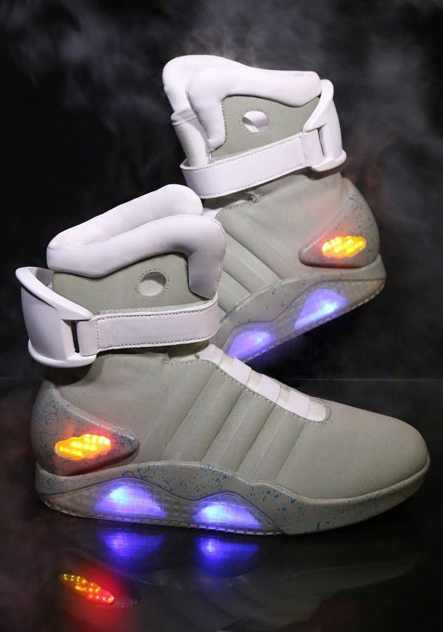 Stay ahead of fashion curve by accessorizing your futuristic get-up with  the Back To The Future light up shoes. With 2015 fast approaching, these  light up ...