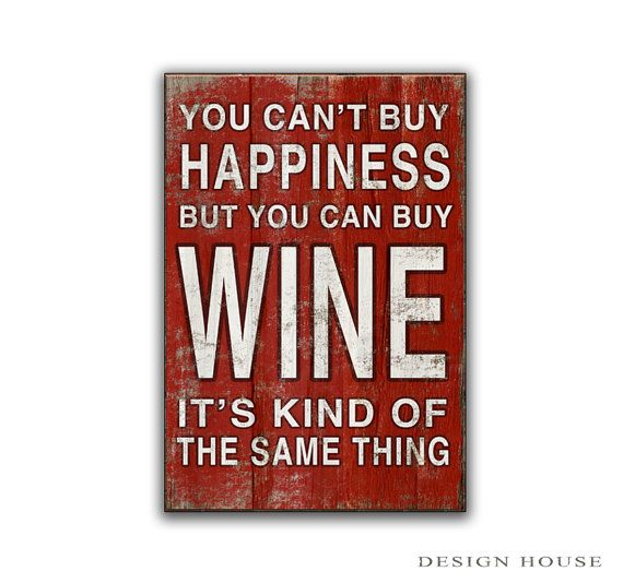 Typography wine signs  If you can't buy wine by DesignHouseDecor