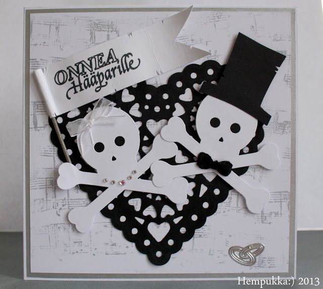Skull wedding card