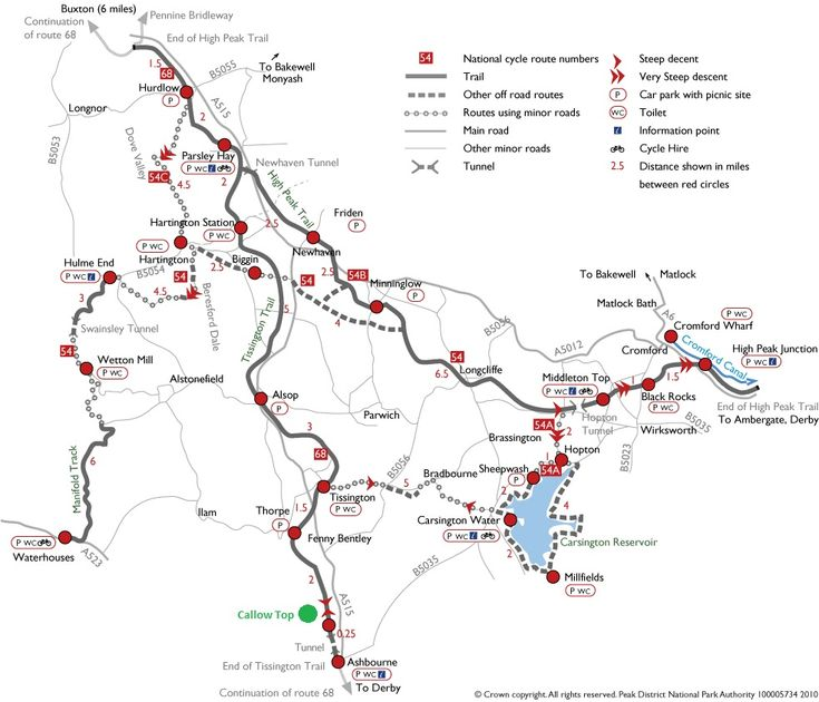high peak trail map | ... Trail Caravan Site | Camping near Tissington Trail Cycle Route