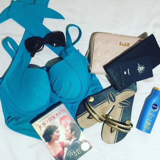 Getting all my essentials ready for a two week family holiday in Bali. Starting of course with our @loveintimo Swimwear! #loveintimo #bestswimwear #swimwear #bathers #holidays #holidayessentials #summer #swimming #jojomoyes #prada #pradasunglasses #passport #passportready #nivea #katehill