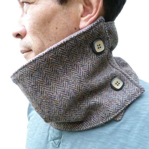 Men's Harris Tweed Neckwarmer  Muted Autumnal by moaningminnie, $47.50