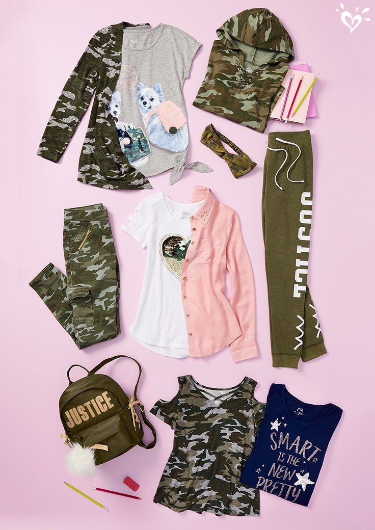 Stand Out In Camo Justice Clothing Outfits Justice Girls Clothes Girls Fashion Clothes