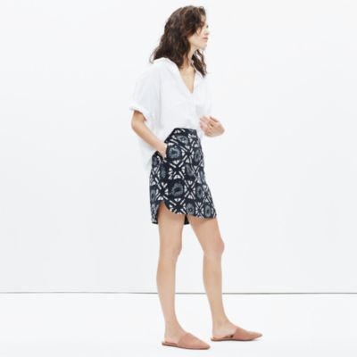 Madewell+-+Distance+Skirt+in+Batik+Grid