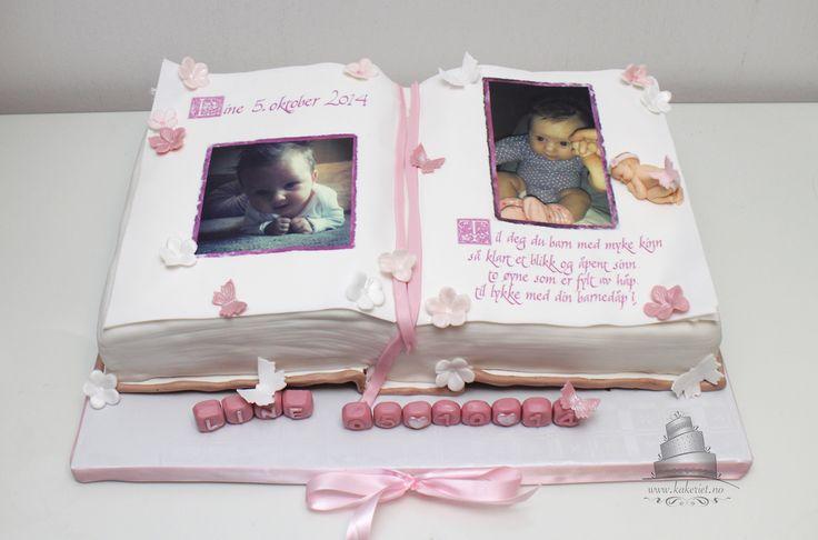 Dåpskake Jente Bok Christening cake book