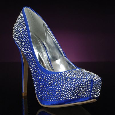 bridal style and wedding ideas: Perfect Royal Blue Wedding Shoes