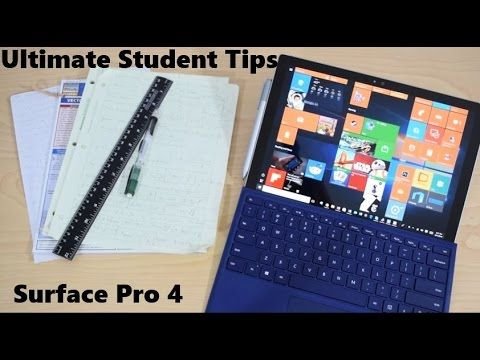 Ultimate Student Guide To Using Microsoft Surface Pro 4 and Surface Book - YouTube