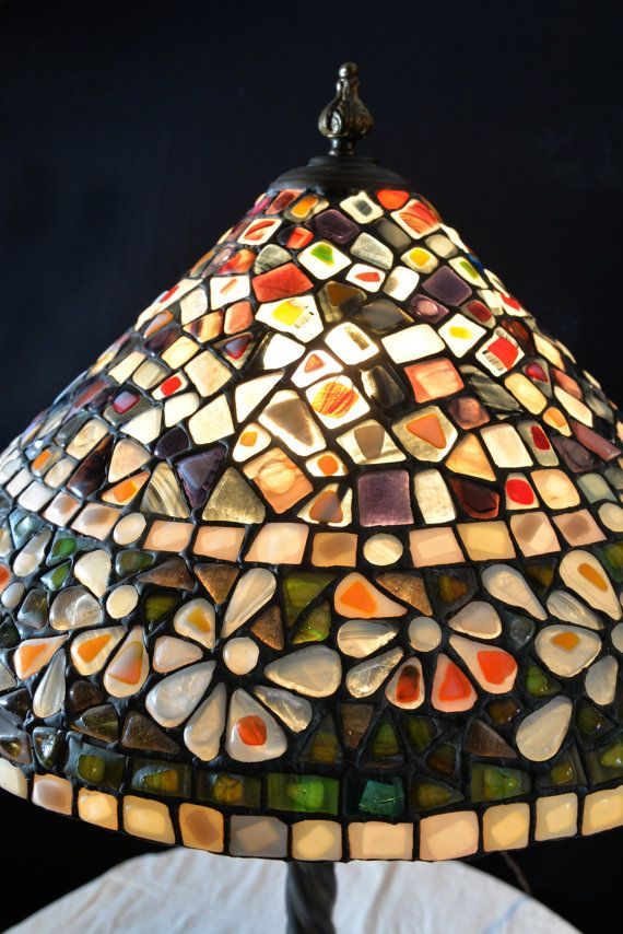 Mosaics stained glass tiffany lamp no 14 decorative glass lamp