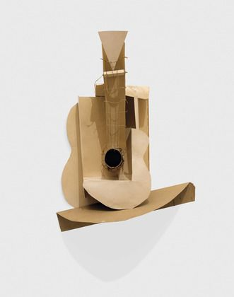 Still life with Guitar by Pablo Picasso - Cut cardboard box & string, Moma, NY  (you can download the family activity guide pdf from this link)