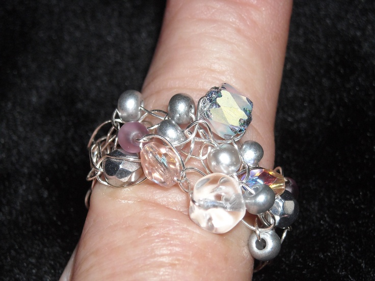 Crocheted Wire RIng