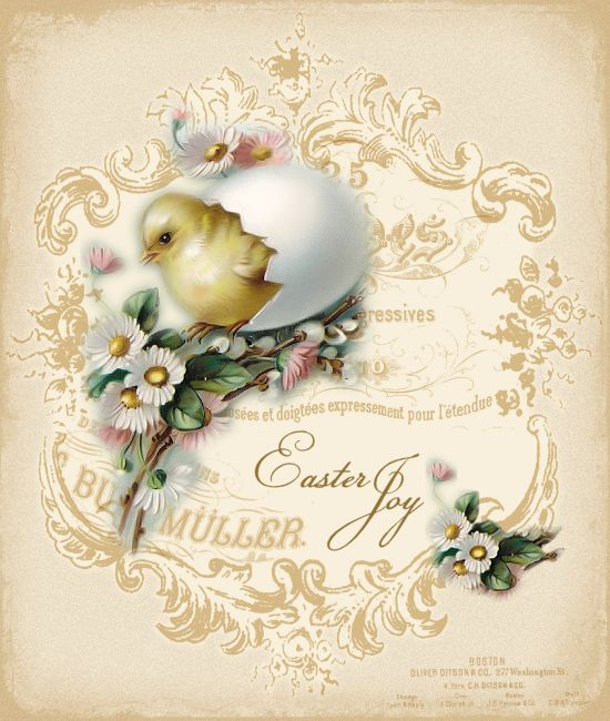 Free Printable, Vintage Easter Graphics...there are 4 of these lovelies, perfect for Easter crafting!!