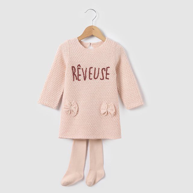 Ensemble robe et collants 1 mois-3 ans R mini