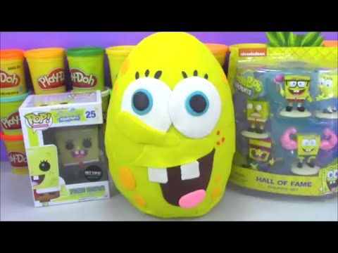 Giant Spongebob Movie Play Doh Surprise Egg Sponge Out Of Water Toys and Minecraft and more! - YouTube